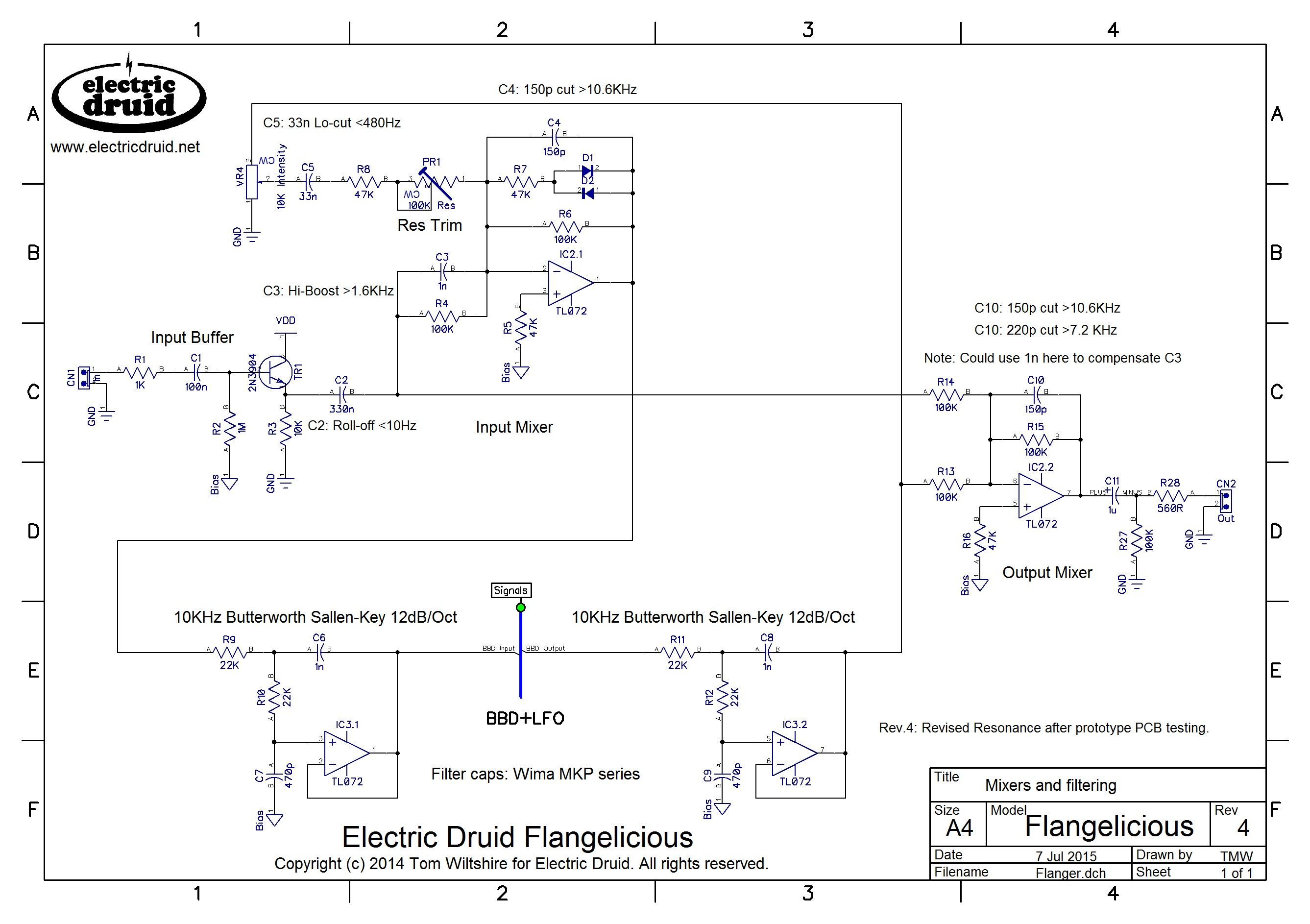 Flangelicious Pg1 Electronic Circuit Pinterest Audio Envelope Follower Schematic