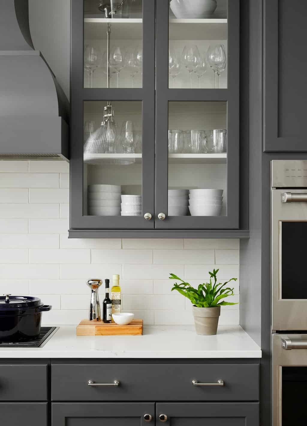 Dark Gray Kitchen Cabinets Trending for 2020 - Centered by ...