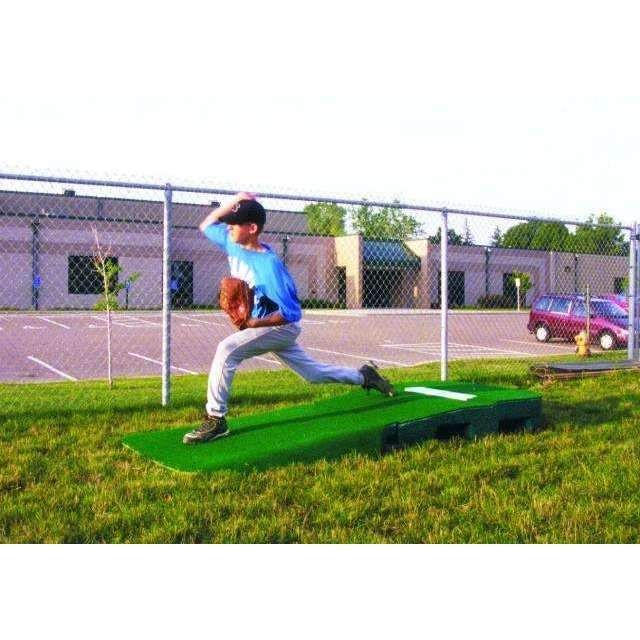 "Portolite 10"" 2-Piece Outdoor Practice Mound W/ Turf"