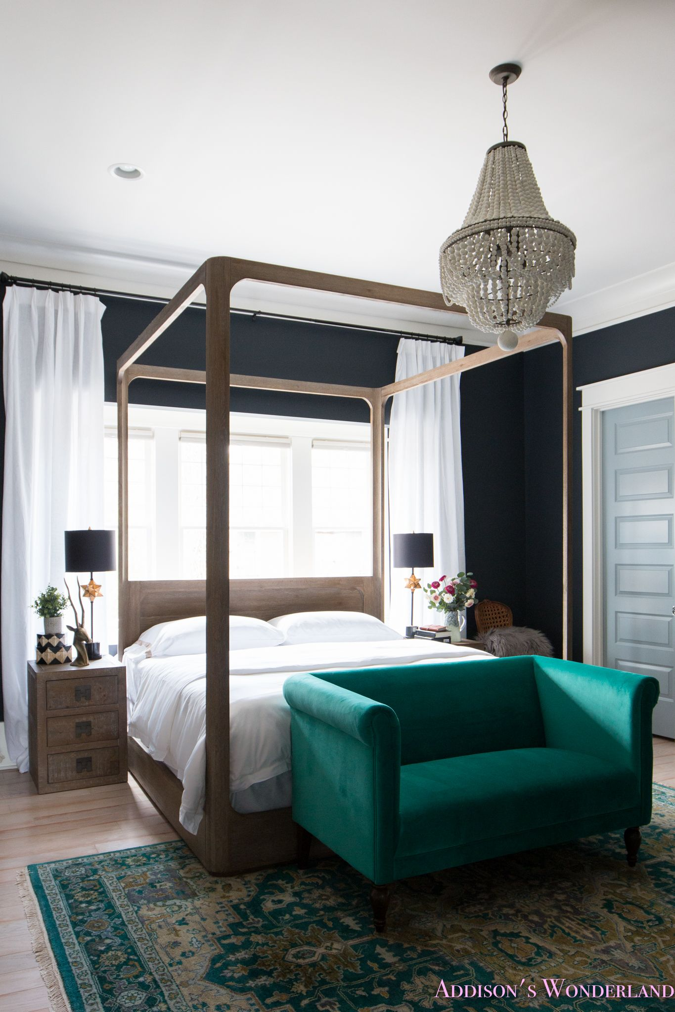 Best Our Black Master Bedroom Update With All White Bedding By 400 x 300