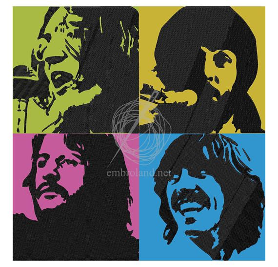 The Beatles Set Machine Embroidery Designs Instant Machine