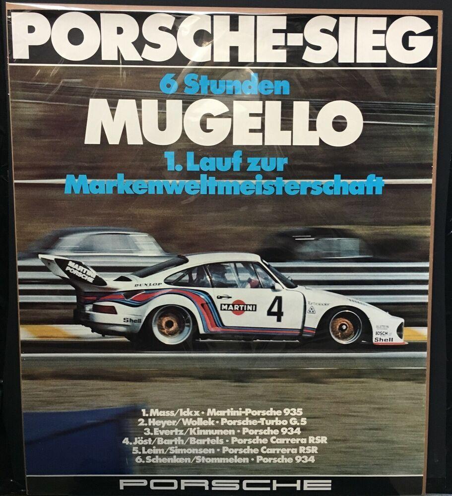 Original Mugello 6 Hours 1976 Martini Porsche 935 Sieg Victory