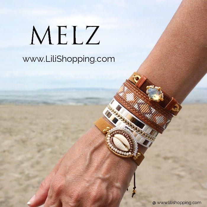 chaussures de tempérament acheter pas cher code promo Accumulation de bracelets Melz pour un effet manchete très ...