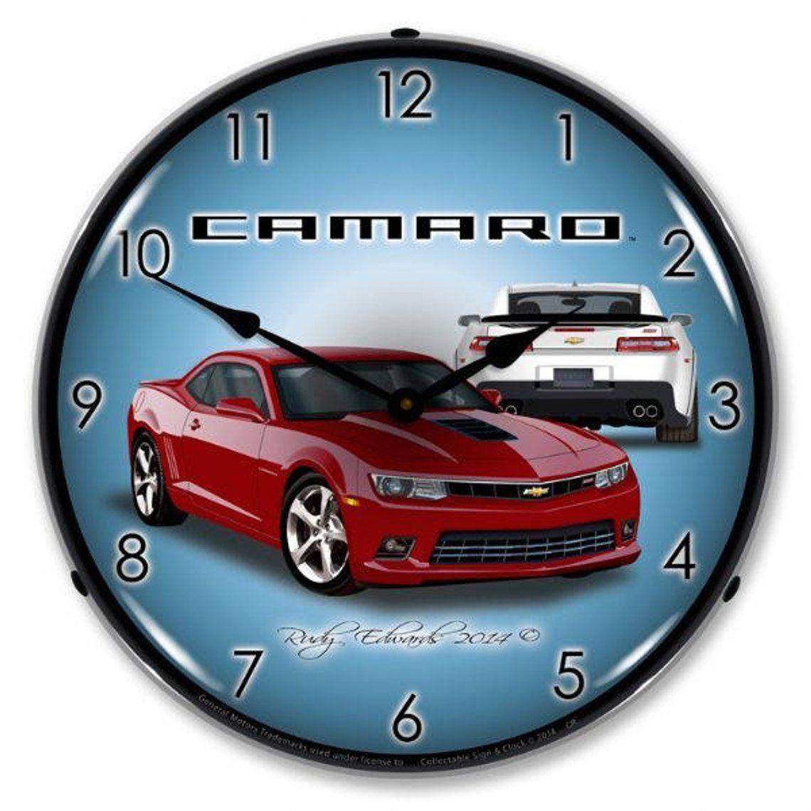 Check This Out I Actually Enjoy This Finish Color For This Chevy Camaro Custom Chevycamarocustom Camaro Wall Clock Light Wall Clock