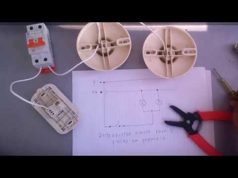 2 Como Conectar Lamparas En Paralelo Controlados Por Un Interruptor Simple You Instalacion Electrica Instalaciones Electricas Basicas Conexiones Electricas