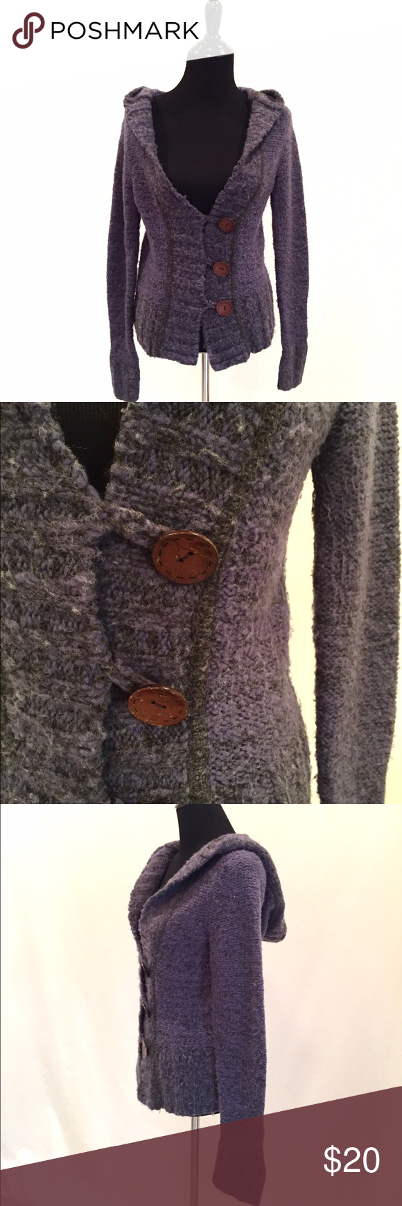Blue Hooded Cardigan Sweater | Hooded cardigan and Cozy
