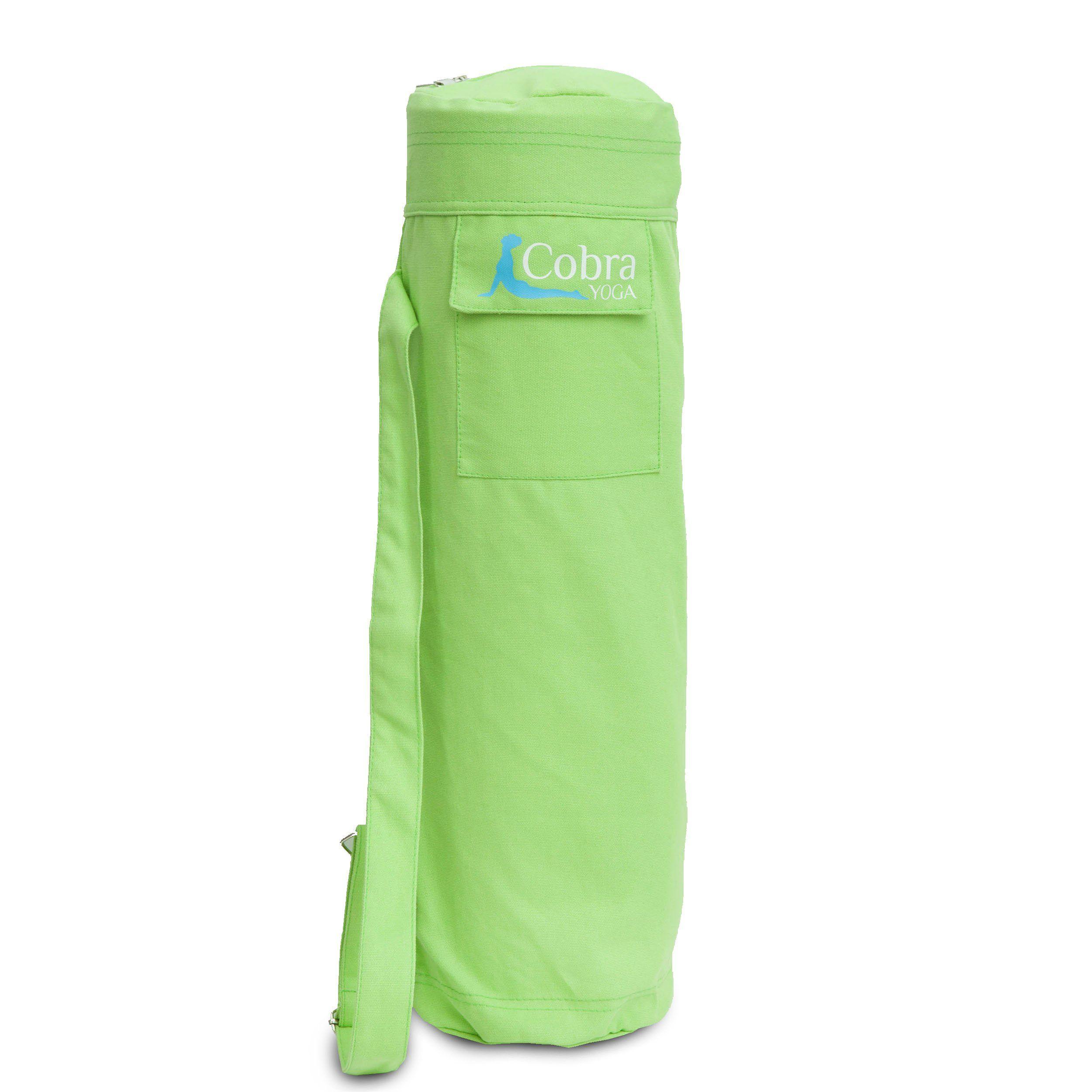 Cobra yoga mat bag with pocket and shoulder strap large to