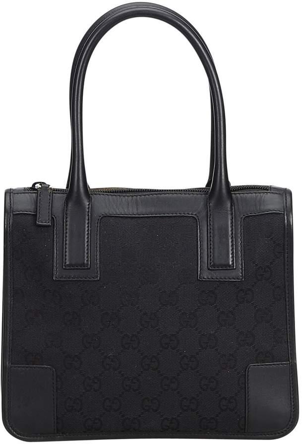 28bd3ff72 Gucci Black Cloth Handbag in 2019 | Products | Gucci black, Gucci ...