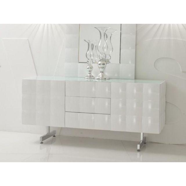 Buffet Design Oxygen Blanc Laqué Home Déco Salon