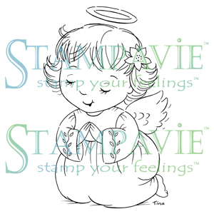 Stampavie Clear Stamp - Angel Praying, The Stamp Simply Ribbon Store