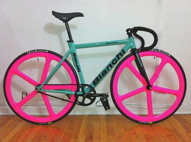 C Cycles X Aerospoke X Bianchi With Images Pink Bike Bicycle