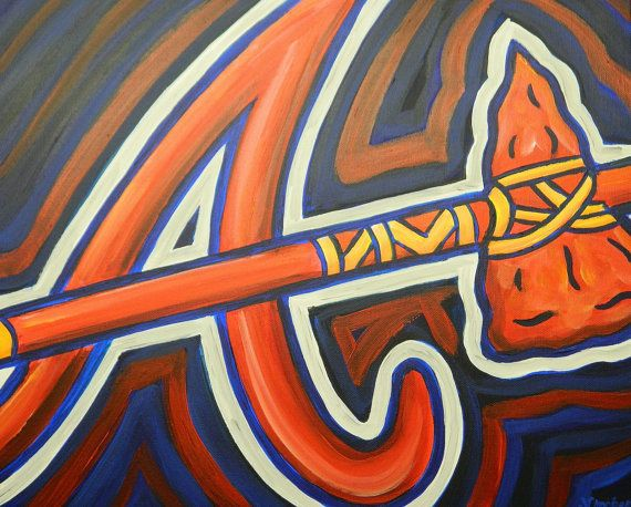 Your Place To Buy And Sell All Things Handmade Sports Art Atlanta Braves Art