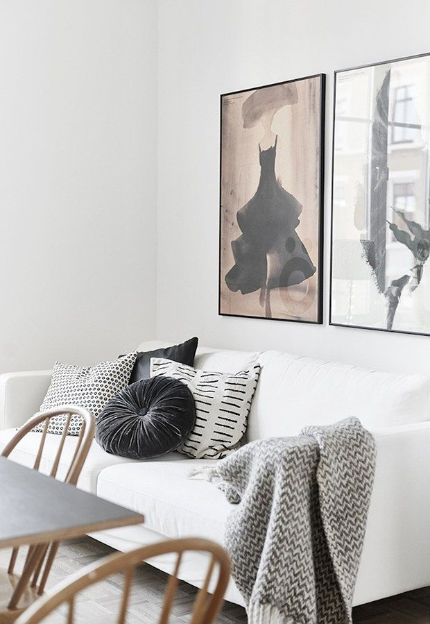 Home tour  monochrome swedish apartment these four walls blog also interior design ideas pinterest living rh