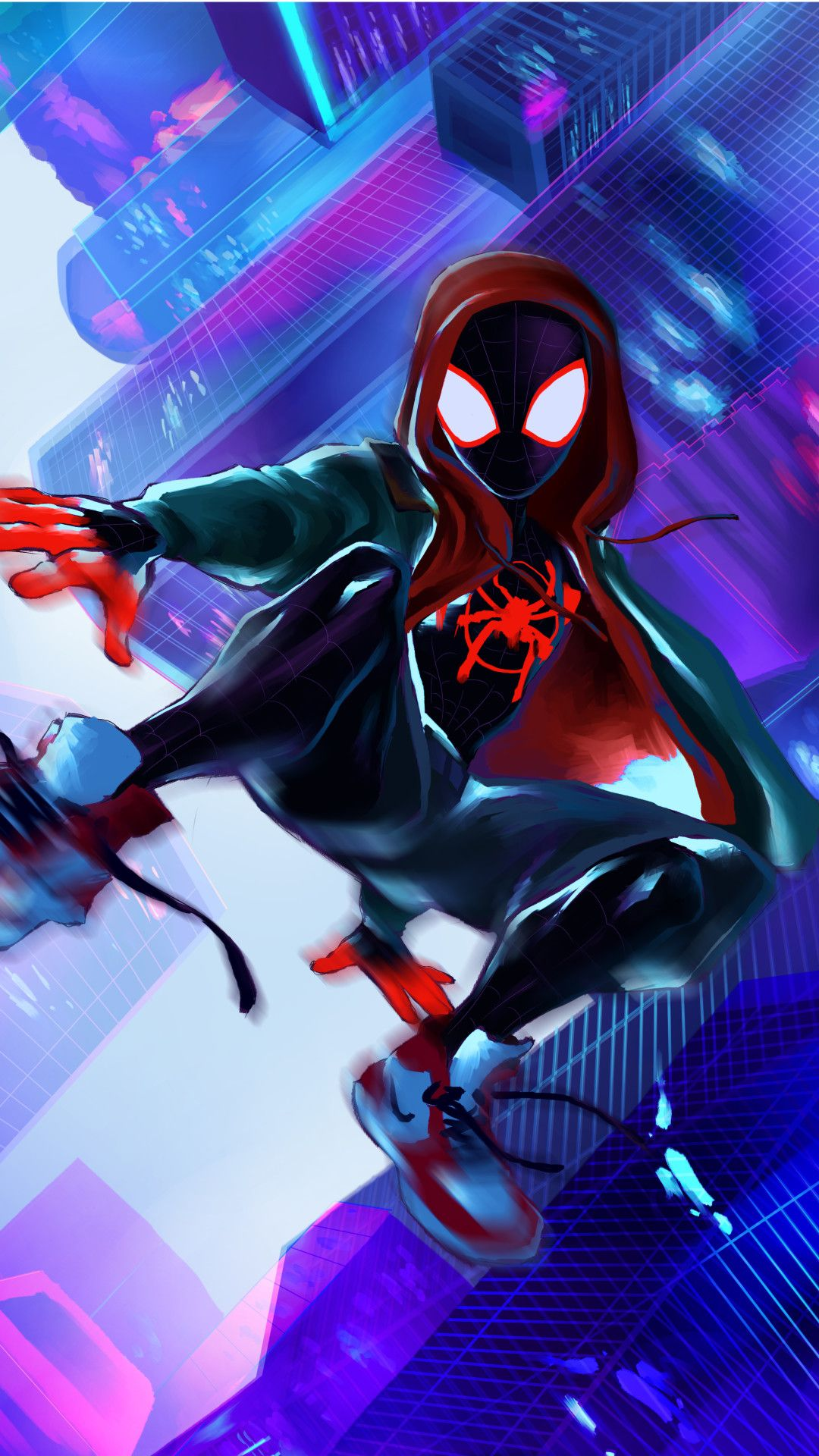 Miles Morales 4k Art Mobile Wallpaper (iPhone, Android