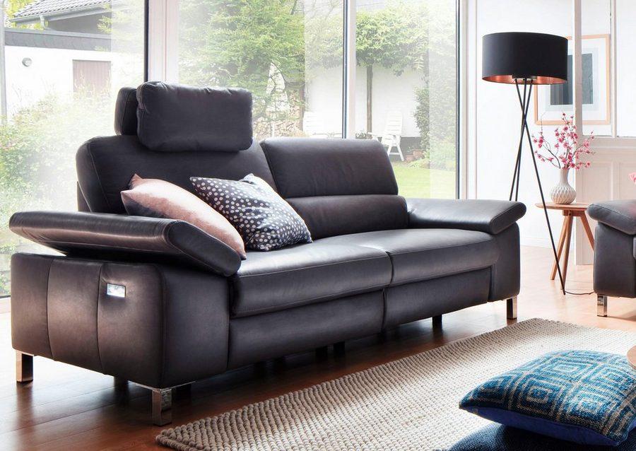 Delavita 2 Sitzer Constanze Wahlweise Mit Teilmotorischer Relaxfunktion Sofa Wohnen Zweisitzer Sofa