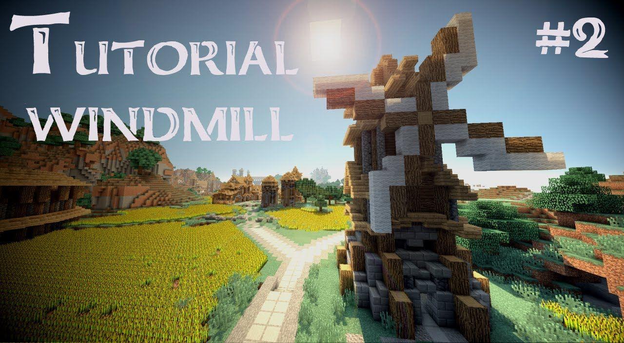 Minecraft Tutorial: medieval windmill (Version 2