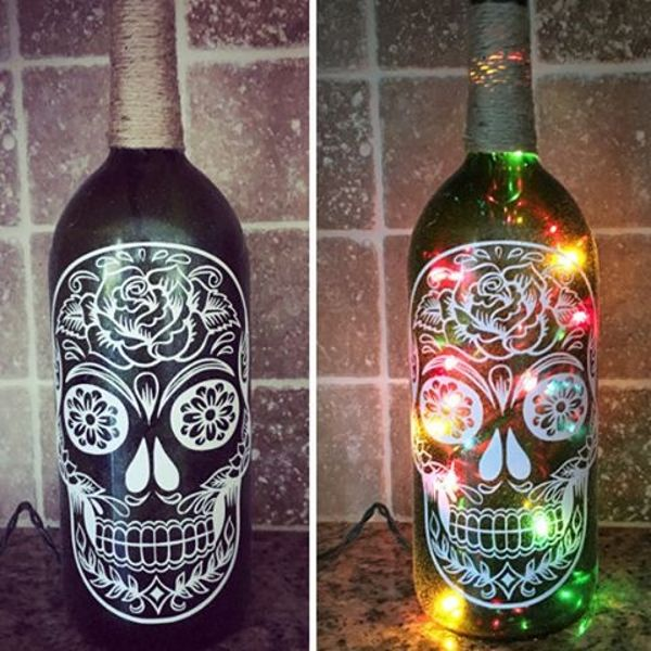 Halloween Bottle Craft Diy Ideas Halloween Decorations