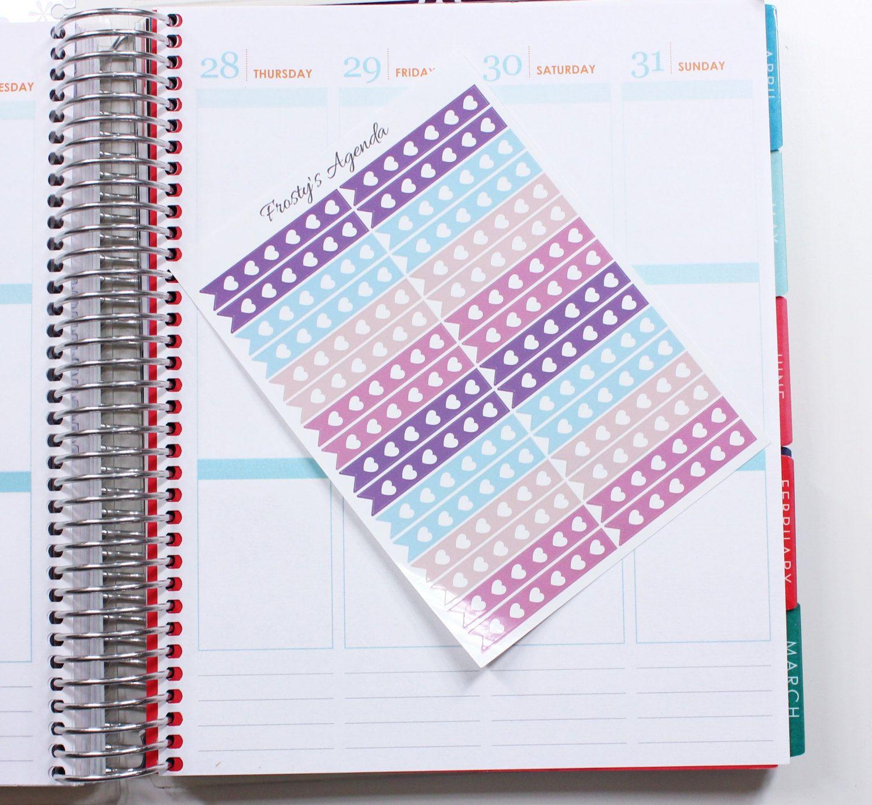 32 lavender gardens full heart checklist planner stickers | erin
