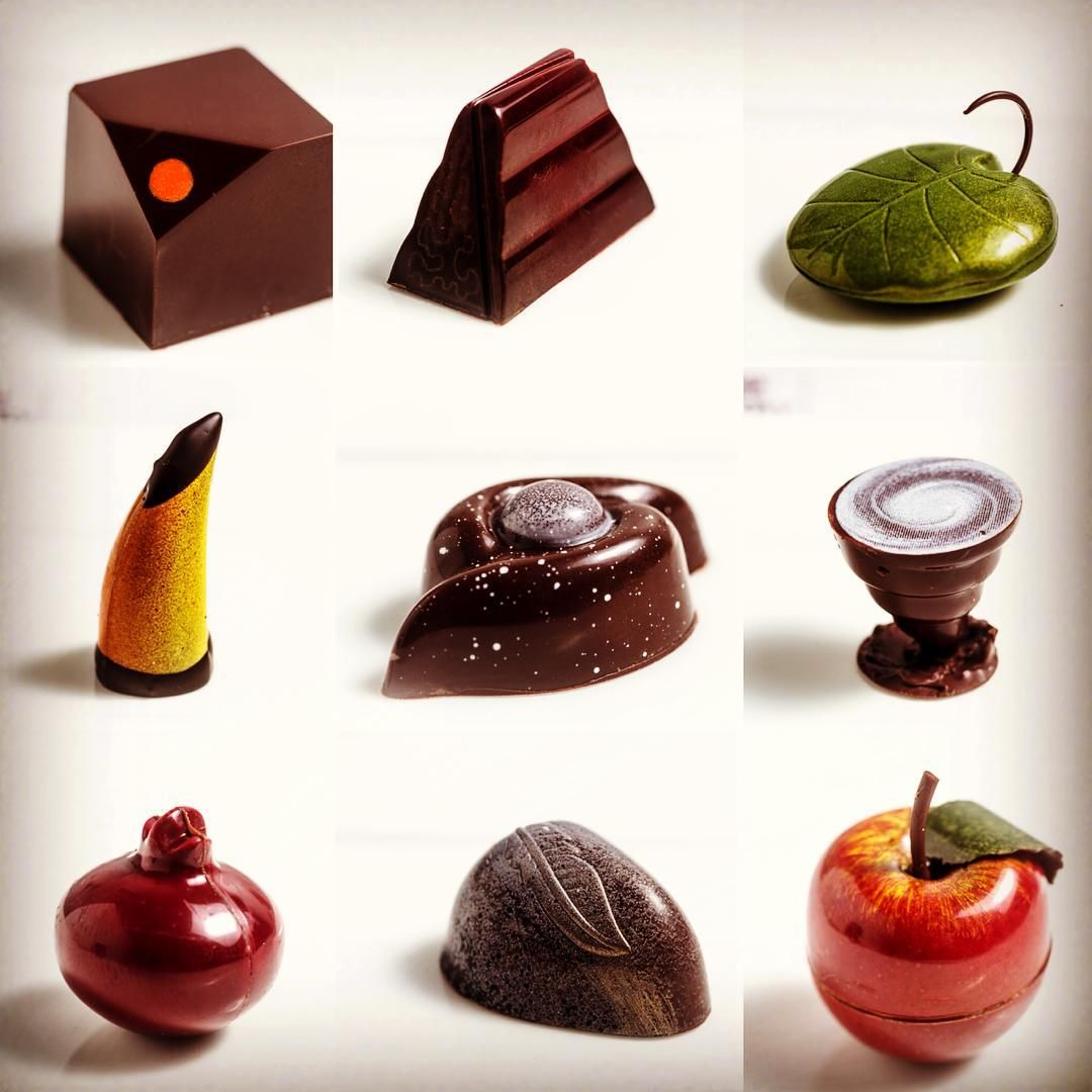 Wonderful moulded pralines created today by our finalists of Group ...