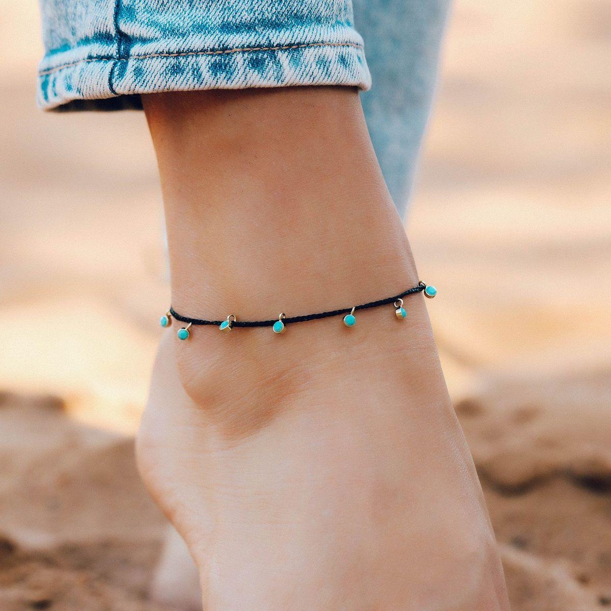 Dangling Gems Anklet   Pura Vida Bracelets
