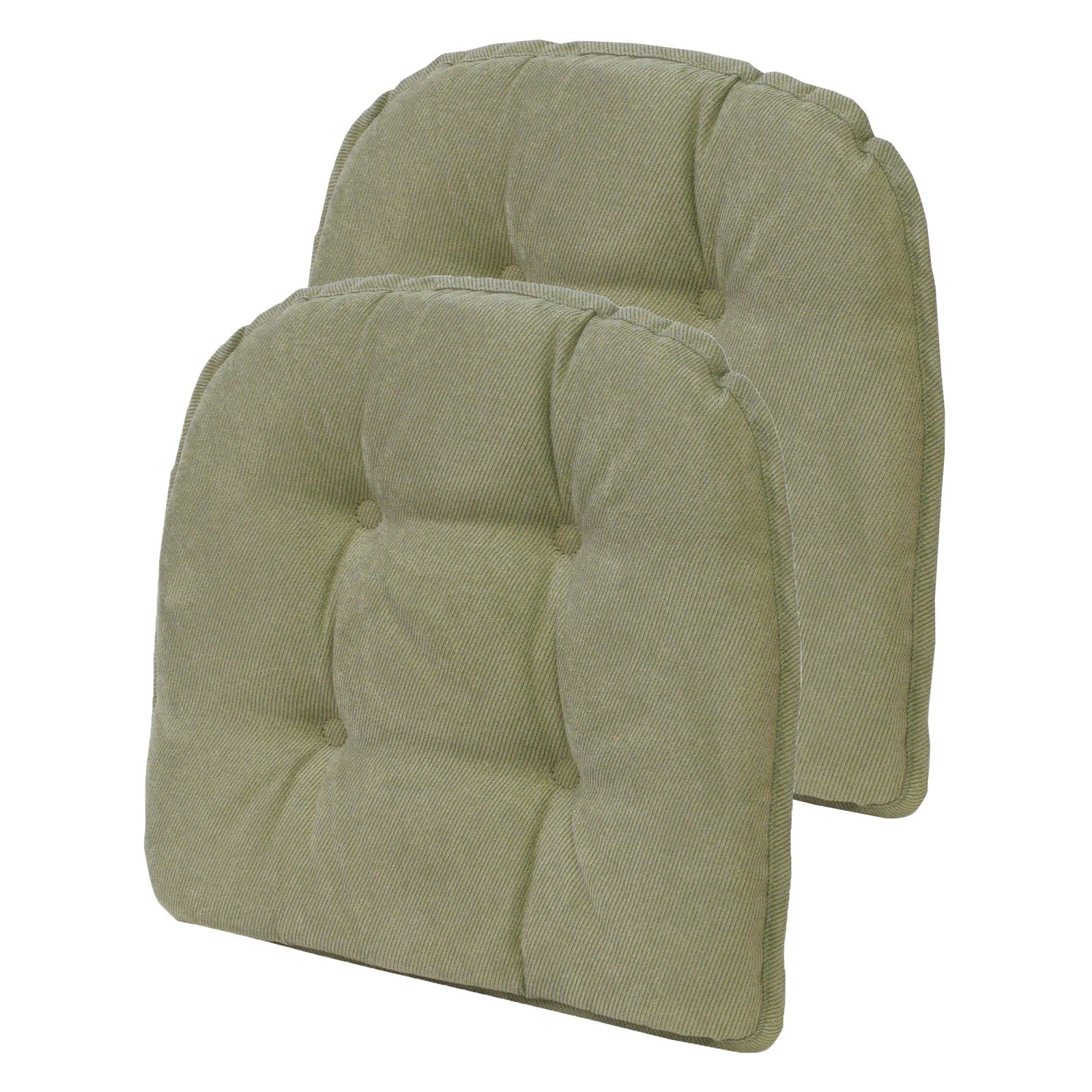 Klear Vu Gripper Twillo 15 X 16 In Tufted Dining Chair Cushion Set Of 2 Tufted Dining Chairs Tufted Chair Tufted Chair Cushion
