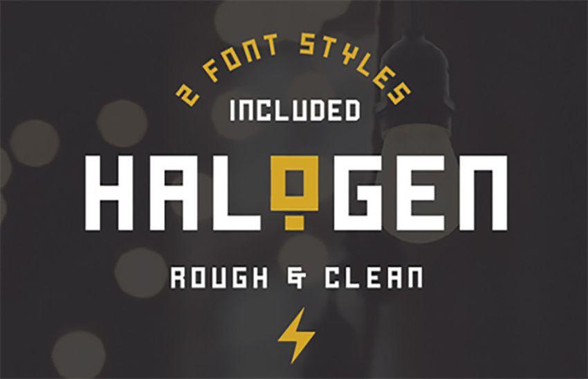 Halogen Free Industrial Font Free Fonts Free Fonts Fonts
