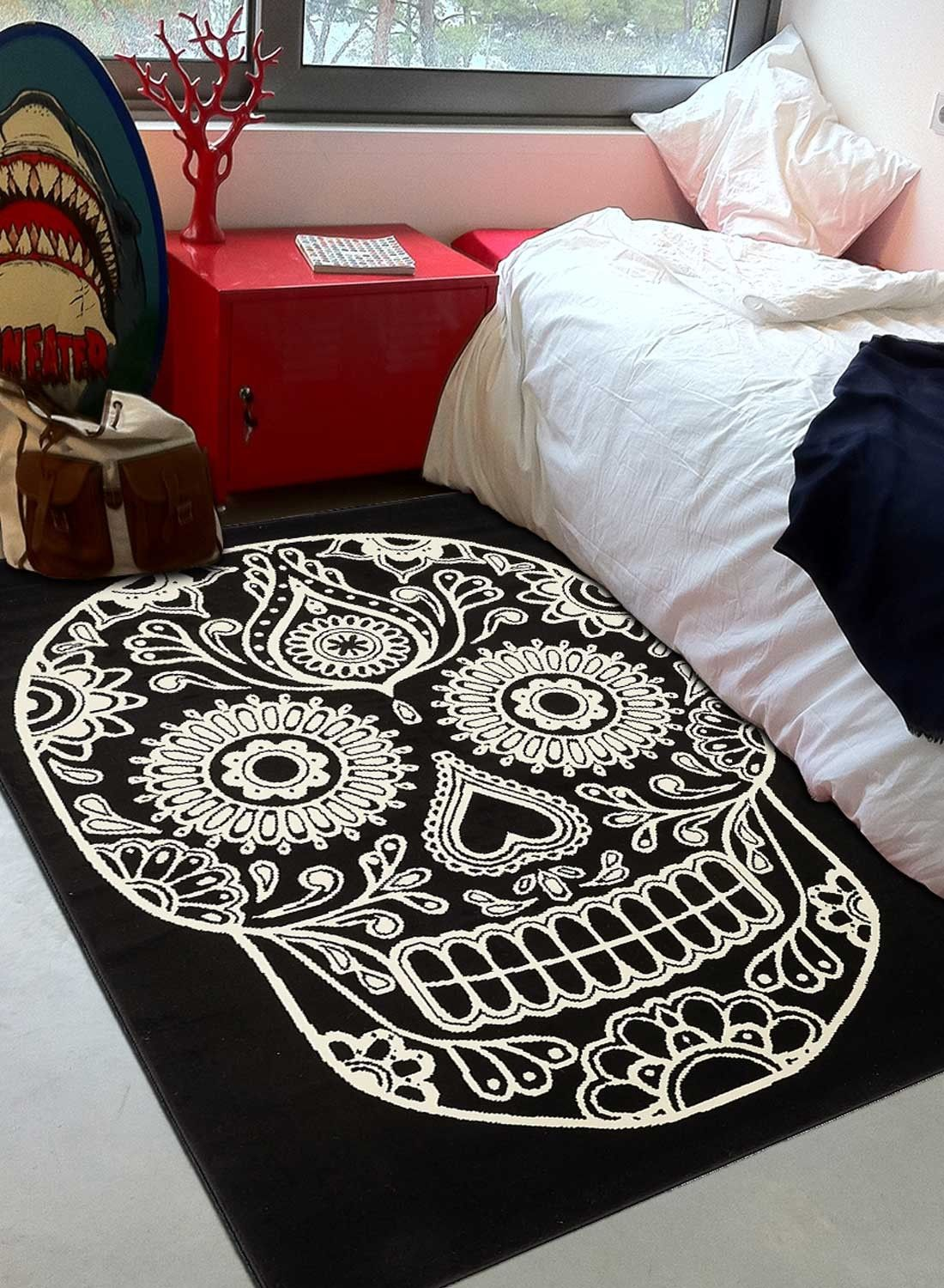 Bc mexican skull  Tapis chambre, Tapis enfant, Deco chambre