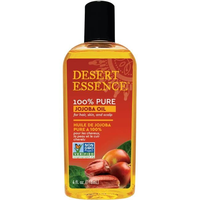 Desert Essence 100% Pure Jojoba Oil | 4 fl oz Liquid