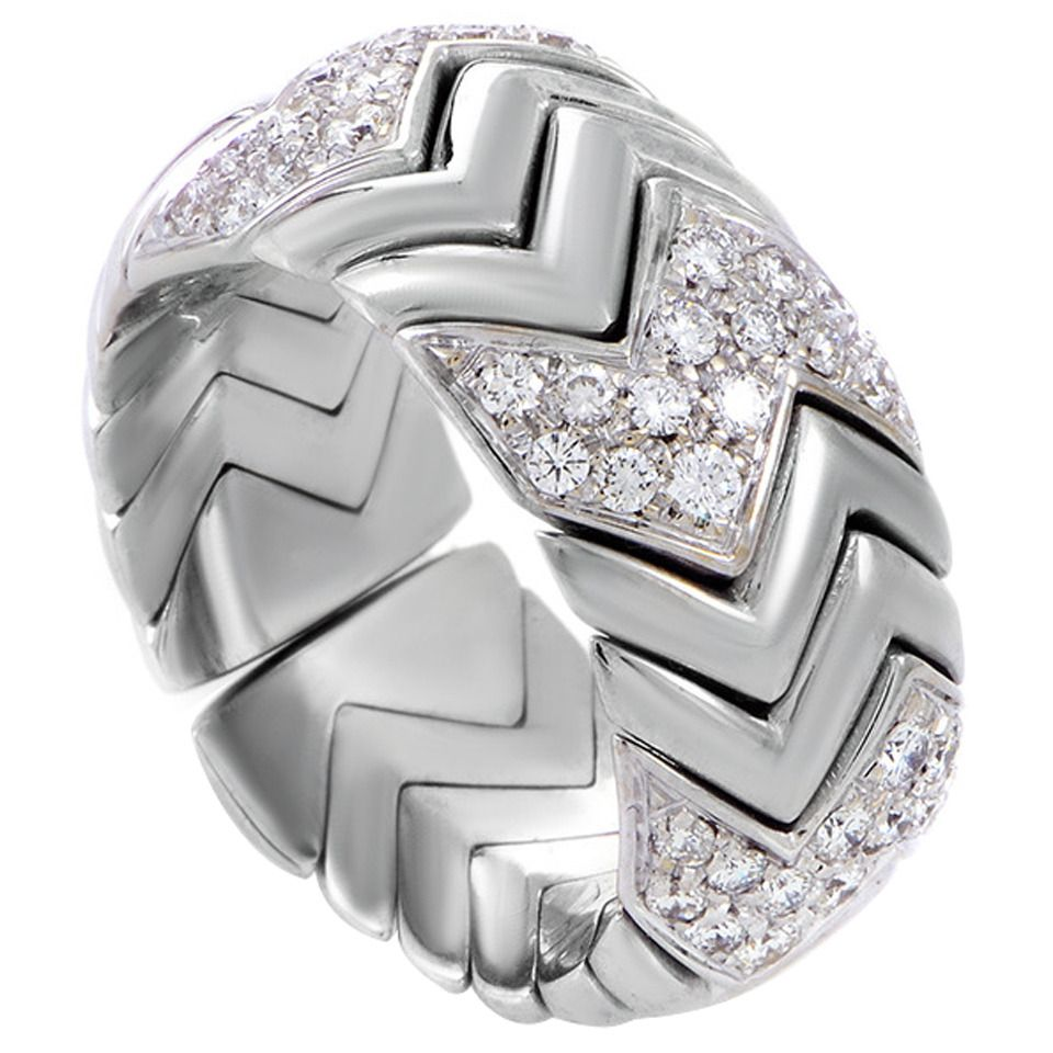 sareen ladies ring vintage bands diamond