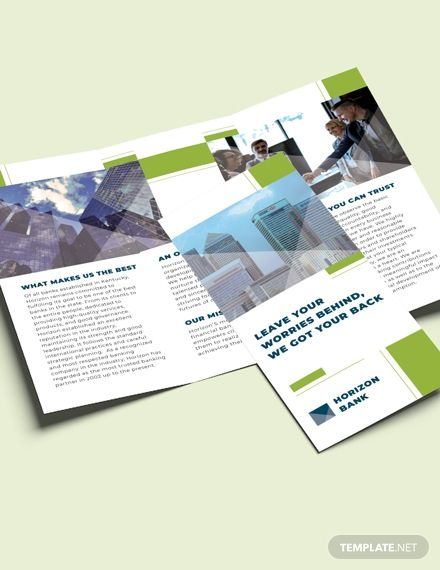 Banking Tri-Fold Brochure Template