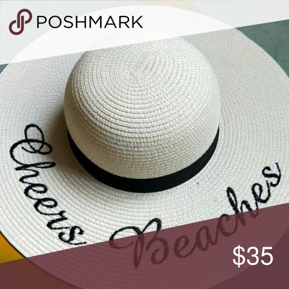 f9e67d24 Cheers Beaches Floppy Sun Hat These embroidered straw hats are one size  fits all. Hat circumference is 16.50'