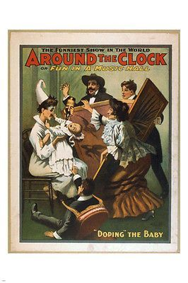 FUN IN A MUSIC HALL vintage poster 1907 24X36 funniest show in the world