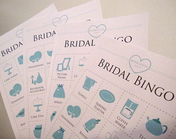 Jewelry Themed Bridal Shower Bingo Cards
