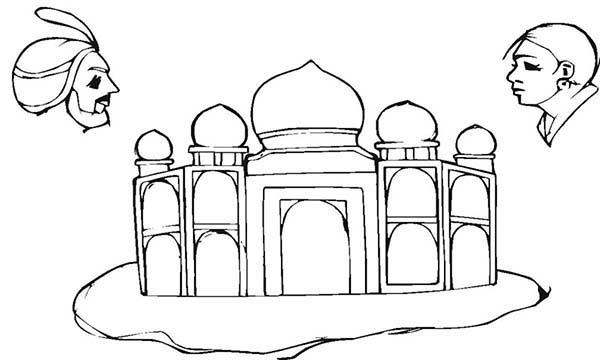 India 7 Wonders Taj Mahal Coloring Page For Kids 23842384234 Drawings Kids Building Free Coloring Pictures Wonders Of The World Taj Mahal