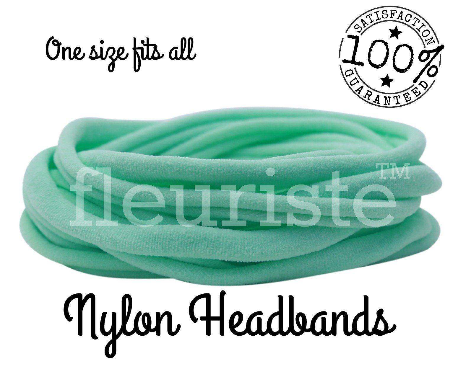 Mint Nylon headbands wholesale 39d4f9275cb