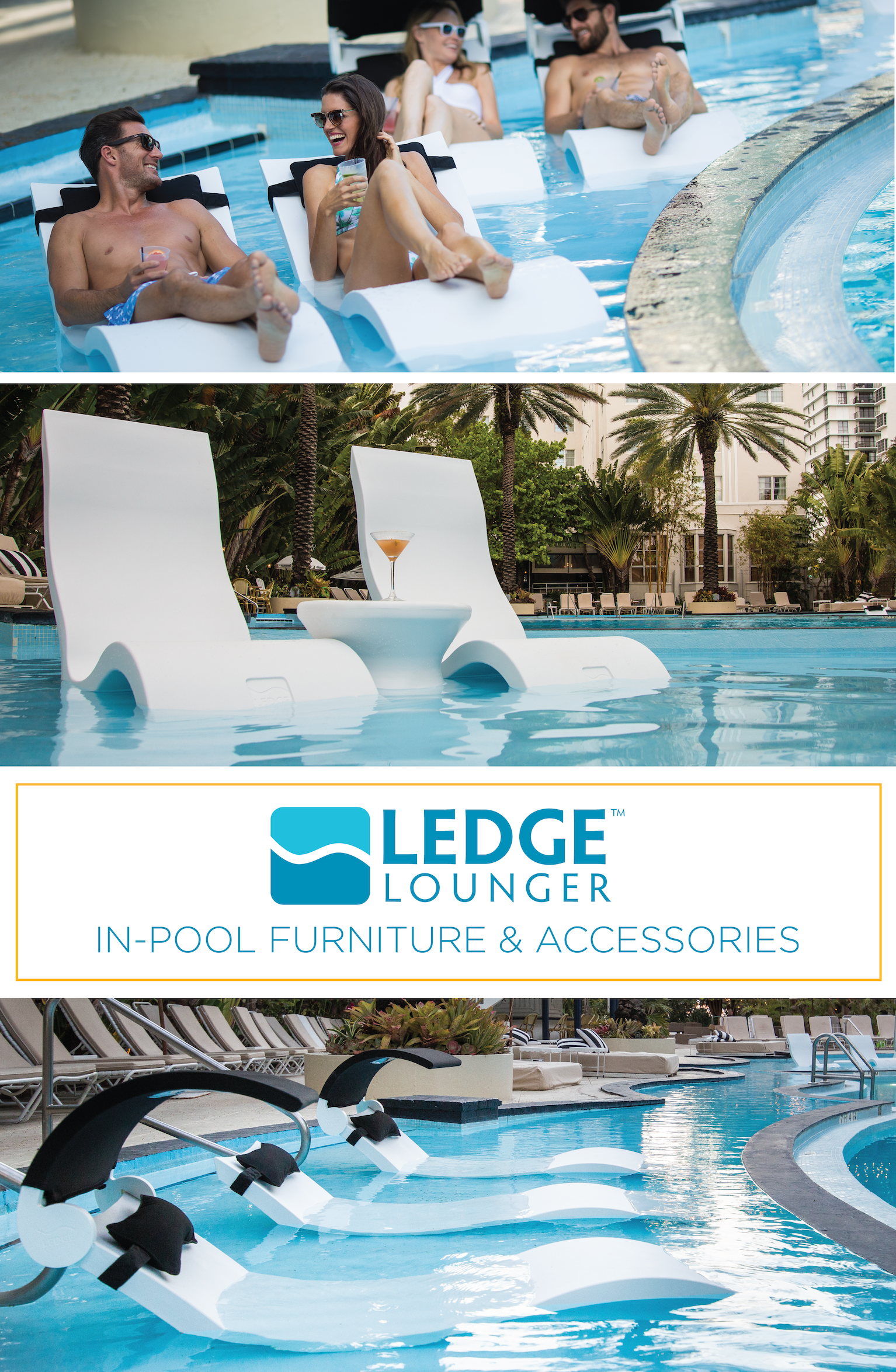 Ledge Lounger In Pool Furniture Is Designed For In Water Use On Your Pool S Tanning Ledge Stylish Durable And High Pool Umbrellas Pool Tanning Pool Remodel