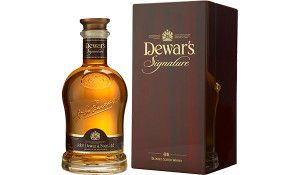 Dewar's Signature Blended #Scotch Whisky.  Aged for up to 27 years, this #whisky earned a score of 93 points from the Beverage Testing Institute.   @Caskers