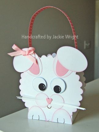Cute bunny basket with punches and dies. #stampinup