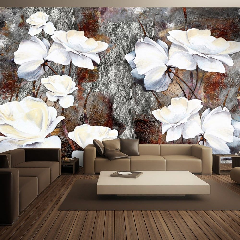 Wallpaper Shy Gestures 3d Wallpaper Mural Wallpaper Rose