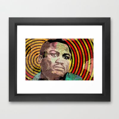 JOE FRAZIER-COMPOSITION 2 Framed Art Print