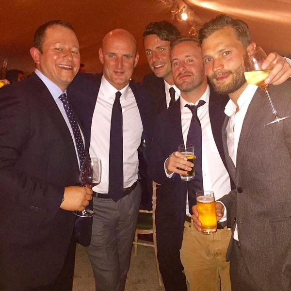 Matthew after the golf game, October 2015 at Alfred Dunhill Links dinner