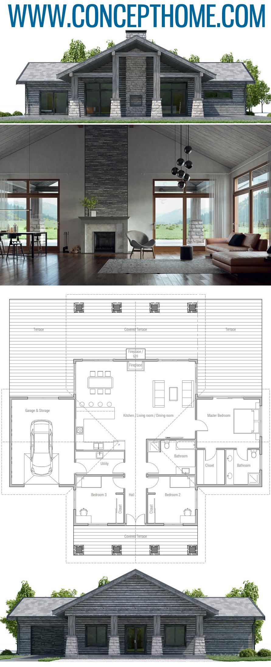Plan de Maison CH447 #arquitectonico