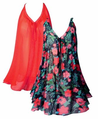 1ddcdc3076 These tops are perfect for a swimsuit coverup. Light and slinky sheer  fabric and its