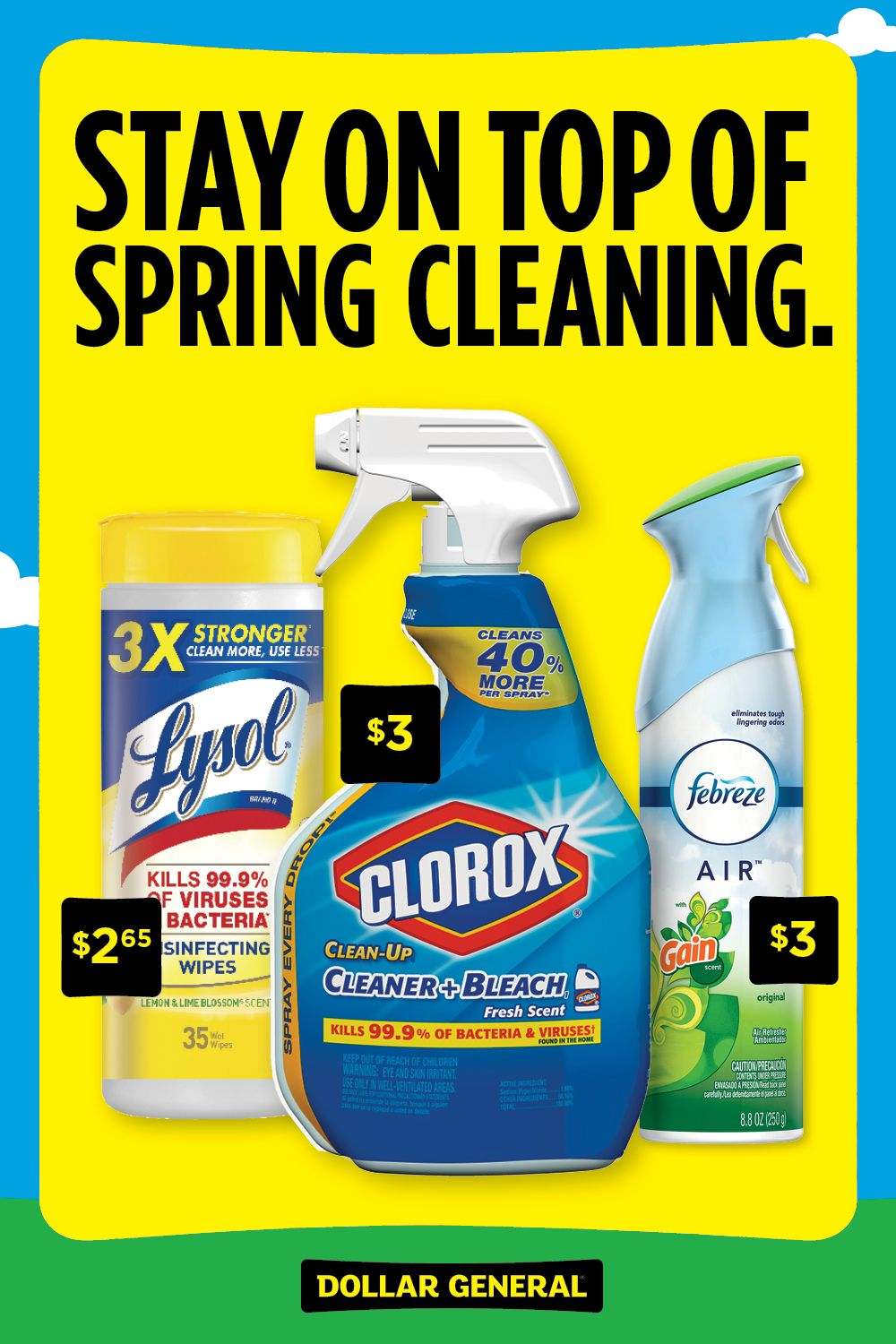 Cleanliness is in the air. Keep those surfaces sparkling