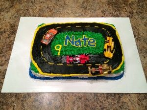 Nate's race car birthday cake and the best cake ever recipe