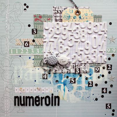 Day in numbers by Riikka Kovasin for Scrap365