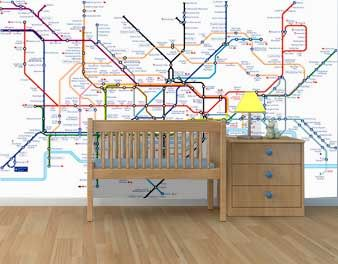 Subway Map Wall Art Wall Art Stickers Wall Decal Huge Underground Tube Map.London Underground Map New House Wish List Map Wallpaper London