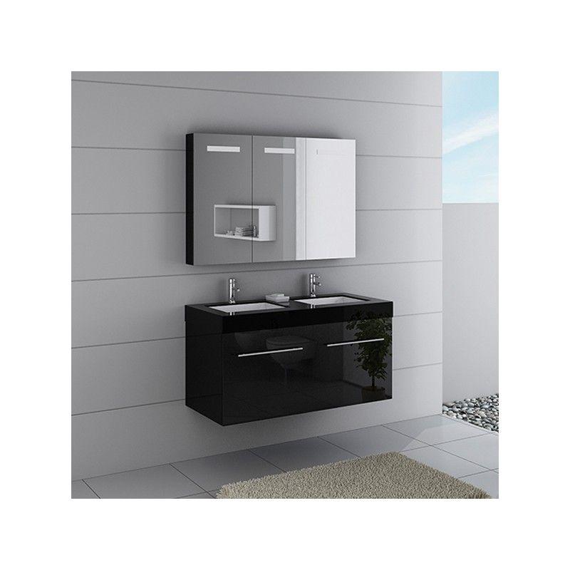 Meubles salle de bain DIS1200N noir - salle de bain meuble noir