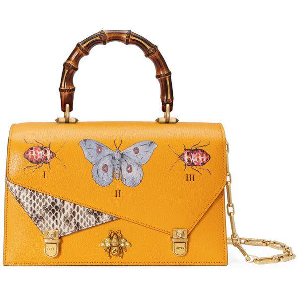 8d7a04953f4 Gucci Ottilia Leather Small Top Handle ( 3