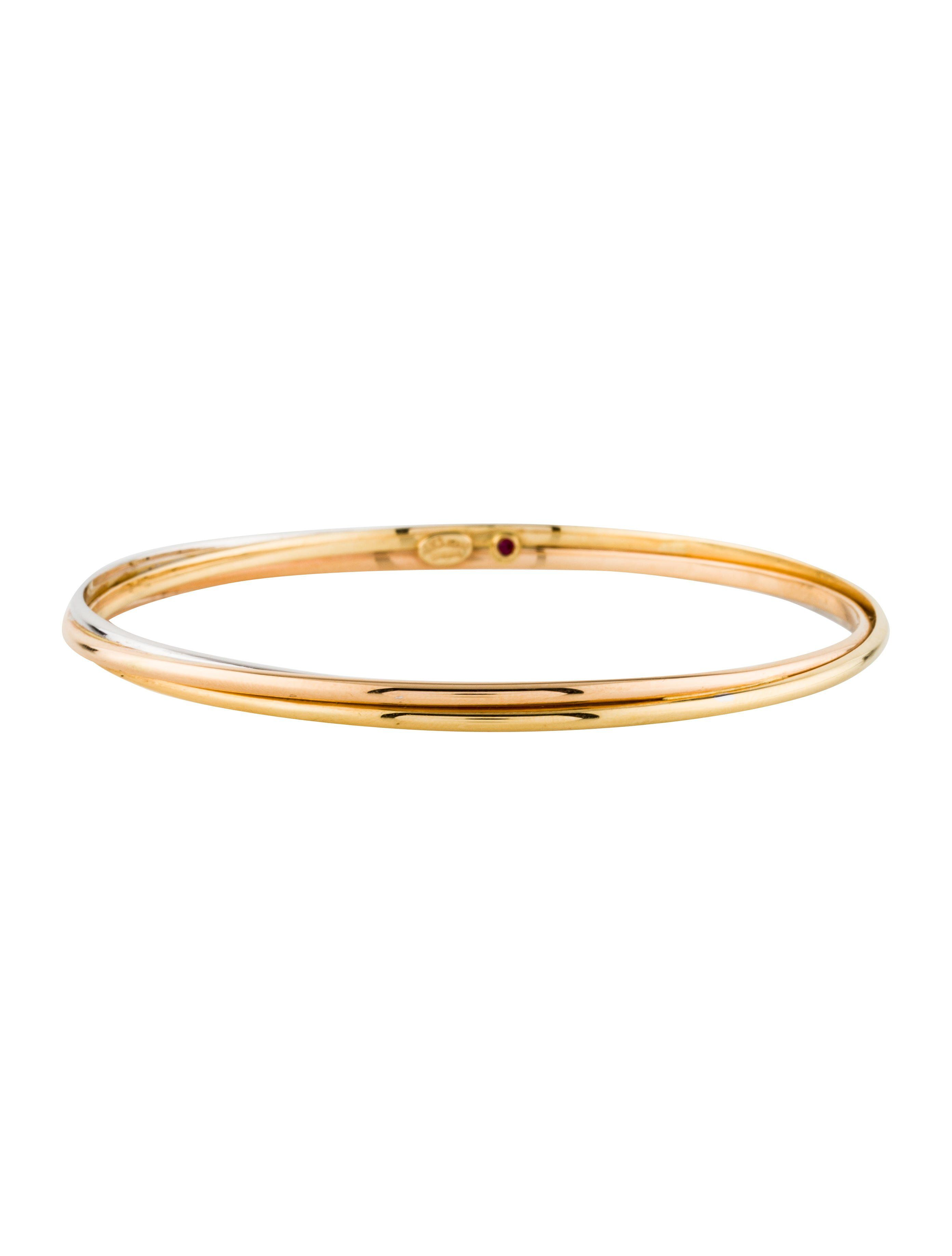18K yellow, white and rose gold Roberto Coin Twist bangle ...